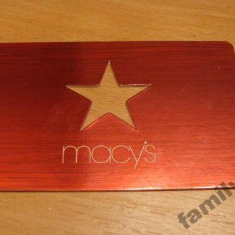 Карточка пластик USA - MACYS  №3