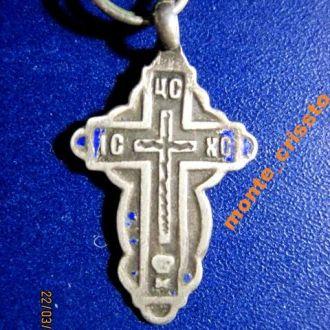 Дореволюционный крестик, серебро, клеймо, 84 проба