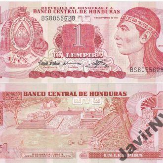 Honduras Гондурас - 1 Lempira 1992 UNC JavirNV