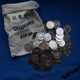 СУПЕРЦЕНА !!  США 25 центов квотер 2010 D  Хот - Спринг