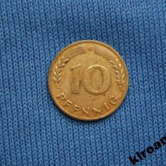 Германия 1950 г 10 пфенингов G