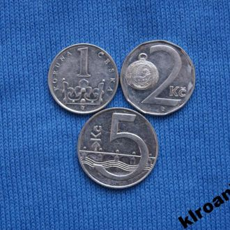 Чехия 1 2 5 крон 1993 г  ЛЮКС
