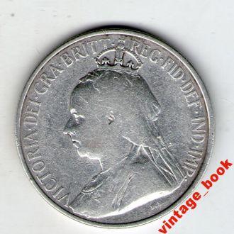 СЕРЕБРО 16 пиастров 1901г.Британский Кипр Оригинал