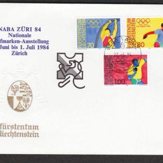 Лихтенштейн 1984 СПОРТ ЛЁГКАЯ АТЛЕТИКА ПРЫЖКИ МЕТАНИЕ СПОРТИВНЫЕ СОРЕВНОВАНИЯ КПД Mi.846-848