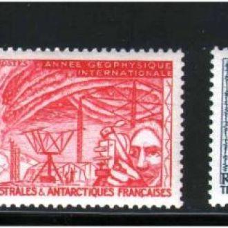 Флот EU Фр. ТААФ / TAAF 1957 г MNH карта