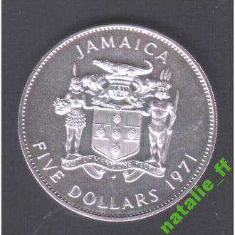 NM Ямайка 1971 г - фауна - 5 долларов