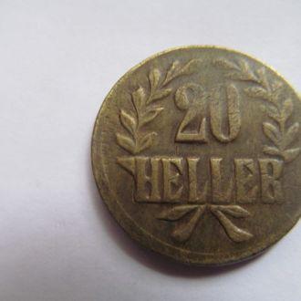 Германия  Ост - Африка   20  геллеров 1916  год  Т