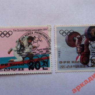 марки-Корея- от 1гр -(к9) Спорт 1983г