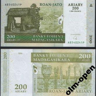 Madagascar / Мадагаскар - 200 Francs 2004 2008 UNC