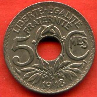 5 сантимов 1918