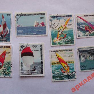 марки-Конго- от 1гр -(к9) Спорт 1983г 8шт