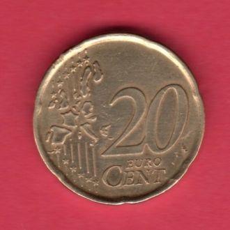 Испания 20 евроцентов 1999 г.