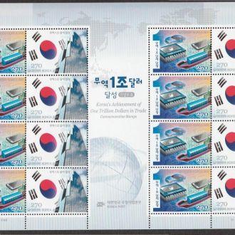 Корея 2011 АВТОМОБИЛИ СУДА ТРАНСПОРТ АРХИТЕКТУРА КОМПЬЮТЕРЫ ЭЛЕКТРОНИКА ЭКСПОРТ Лист 16 марок**