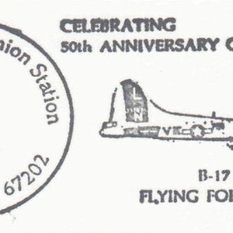 США 1985 САМОЛЁТ В-17 ЛЕТАЮЩАЯ КРЕПОСТЬ ВОЕННАЯ АВИАЦИЯ ВВС ВОЗДУШНЫЙ ТРАНСПОРТ ПК ОМ СГ