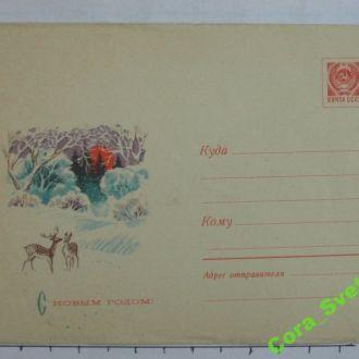 Конверт С новым годом чистый худ Филиппов 1969