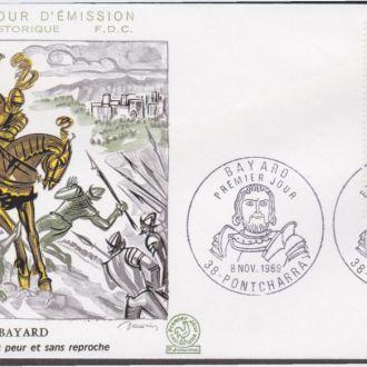 Франция 1969 ФОРТ БАЙЯРД БИТВА БАТАЛЬНАЯ СЦЕНА СРАЖЕНИЕ ВОЙНА КОННЫЕ ВСАДНИКИ КОНИ КПД Mi.1689