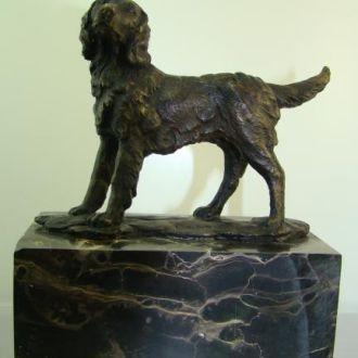 Бронзовая статуэтка Собака бронза. Доставка бесплатно !