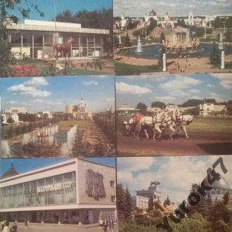 Открытки Архитектура ВДНХ Павильёны Выставки