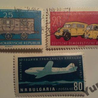 ГДР Болгария Транспорт Техника Интересные