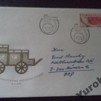 конверт Чехословакия карета голуби мира