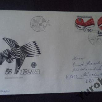 конверт Чехословакия самолеты