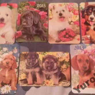 Календарики Фауна Домашние животные Собаки Псы
