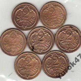 2 Геллера, погодовка - 1897,98,1902,04,09,11,12