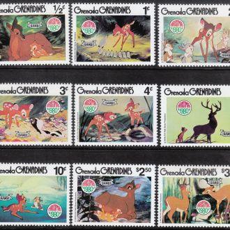 """Гренада-Гренадины 1980 Рождество """"Бемби"""""""