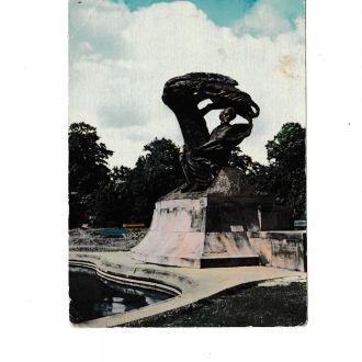 Открытка Польша, Варшава, Шопен, памятник