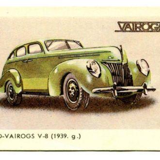 Карманный календарь, 1987 г Ford-Vairogs V8 (1939)