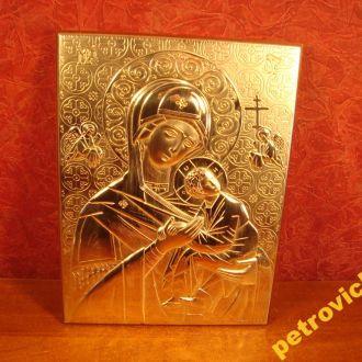 ИКОНА БОЖЬЕЙ МАТЕРИ  СЕРЕБРЕНИЕ. 10 гр  ИТАЛИЯ (Р151) № 865