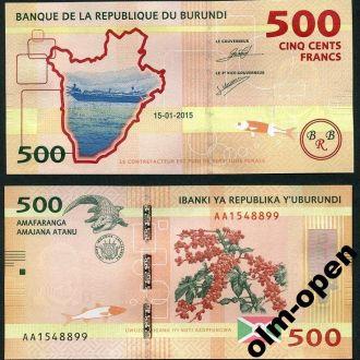 Burundi/ Бурунди - 500 Francs 2015 - UNC OLM-OPeN