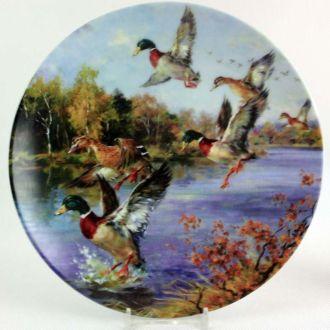 Декоративная настенная тарелка Германия охота утки