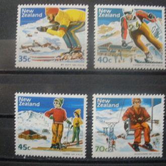 Новая Зеландия.1984г. Зимн. спорт. Полн.серия. MNH