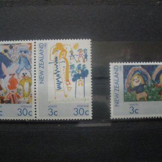 Новая Зеландия.1986г. Детские рисунки. Серия. MNH