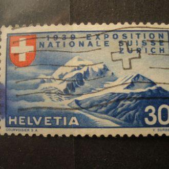 Швейцария.1939г. Кр. крест и гора. КЦ 10,0 евро!