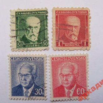 марки-Чехословакия с 1гр  (А1)- 4марки