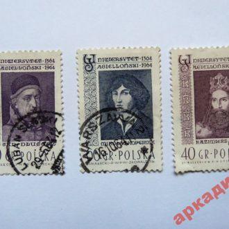 марки-Польша с 1гр  (А1)- 1964г