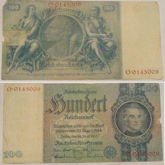 Германия Банкнота 100 рейхсмарок 1935 г