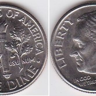 USA США - 10 Cents 1996 aUNC JavirNV