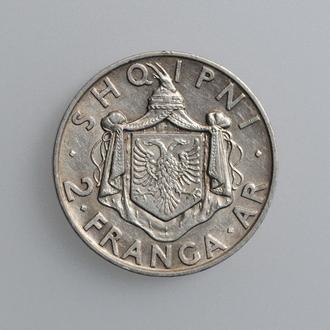 "Албания 2 франга 1935 г., XF, ""Король Зогу I (1928 - 1939)"""