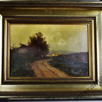 картина оригинал пейзаж C. LEOPOLD MEHN 1860-1946