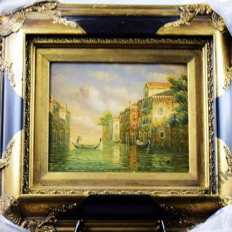 картина Венеция море город масло дерево рама