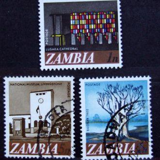 Восточная Африка  Замбия Подборка 3шт.