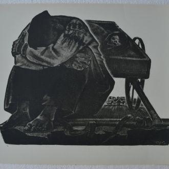 Н.Т. Попов ,,Повозка,, 1966. Литография.