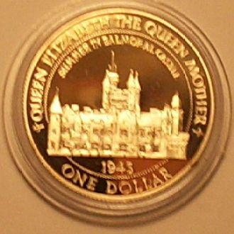 2 доллара 1997 г. Белиз. 16 г Ag 925 пр. ПРУФ.
