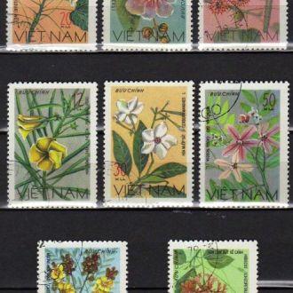 Вьетнам Флора Цветы Растения Полная Серия Редкая