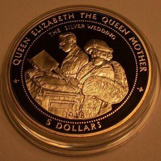 5 долларов 1998 г. Ниуэ.31.47 г. Ag 925 пр. ПРУФ.