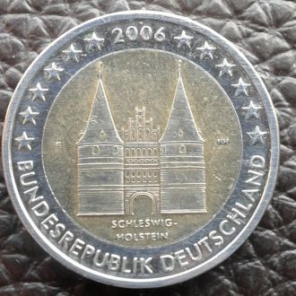 Германия 2 евро 2006 года Шлезвиг-Гоштиния