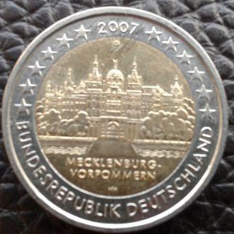 Германия 2 евро 2007 года Макленгург-Померания